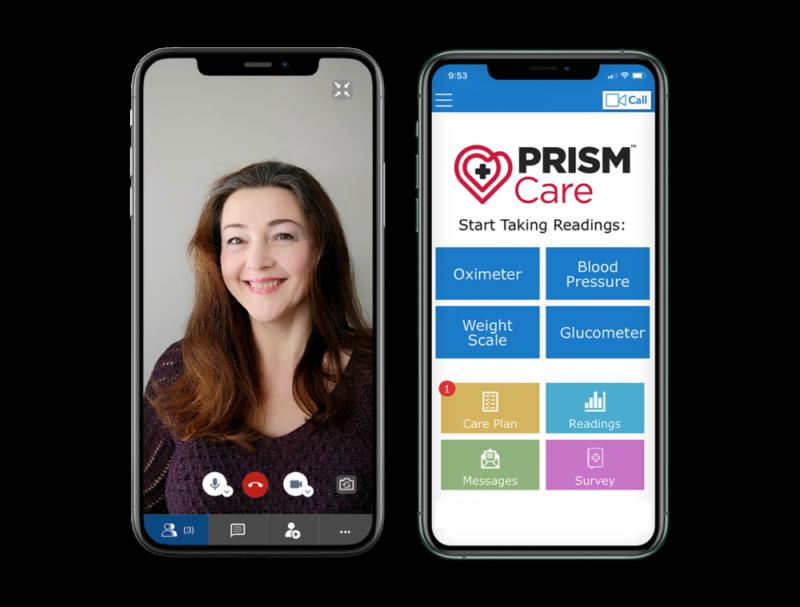 Remote Patient Monitoring Prism Mockup